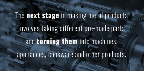 2526111a Forming metal pieces for assembly use is just part of the process when it  comes to making metal products. The next stage involves taking different  pre-made ...