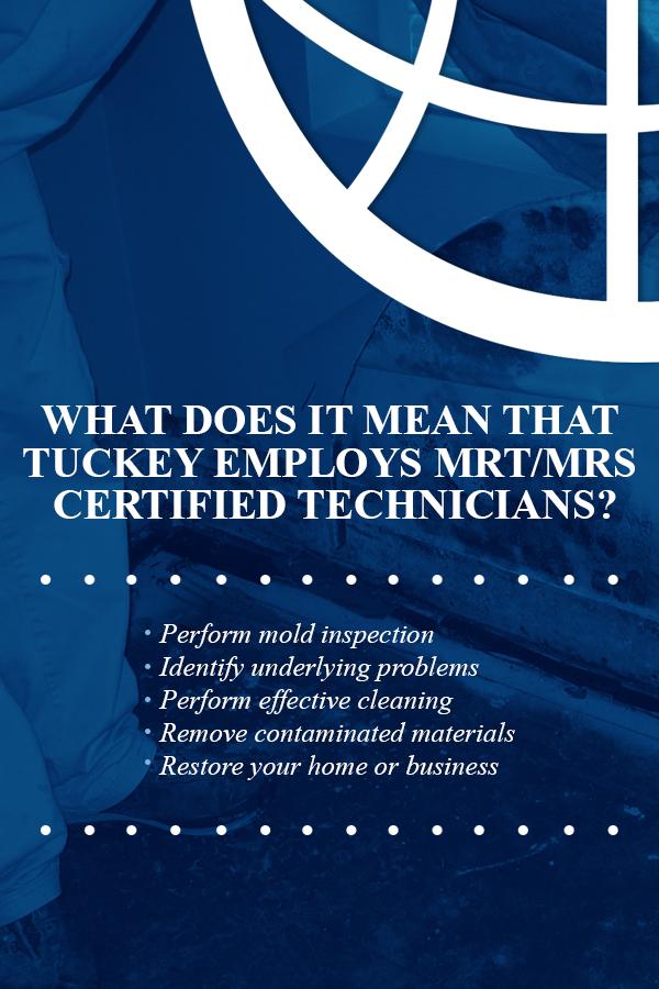 Tuckey Employs MRT/MRS Certified Technicians