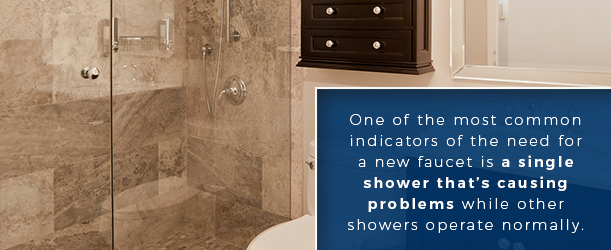 One Of The Most Common Indicators Need For A New Faucet Is Single Shower That Causing Problems While Other Showers Seem Operate Normally