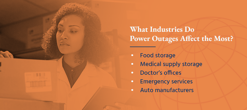 what industries do power outages affect the most